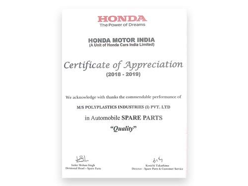Honda Quality