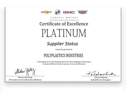 GMC Supplier Status
